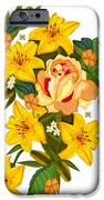 Golden Lily Flowers With Golden Rose IPhone 6s Case