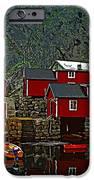 Lofoten Fishing Huts 2 IPhone Case by Steve Harrington
