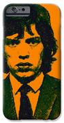 Mugshot Mick Jagger P0 IPhone Case by Wingsdomain Art and Photography