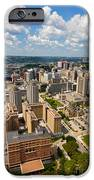 Oakland Pitt Campus With City Of Pittsburgh In The Distance IPhone Case by Amy Cicconi