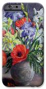 Poppies And Irises IPhone Case by Anthea Durose
