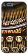 Steampunk - Typewriter - Underwood IPhone Case by Paul Ward
