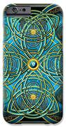 Teal Blue And Gold Celtic Cross IPhone 6s Case