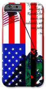 The Pledge Of Allegiance - Iwo Jima 20130210 IPhone Case by Wingsdomain Art and Photography