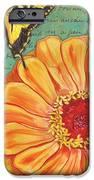 Verdigris Floral 1 IPhone Case by Debbie DeWitt