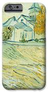 View Of Asylum And Saint-remy Chapel IPhone Case by Vincent van Gogh