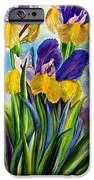 In Memory Of My Father - Three Blue And Yellow Irises IPhone 6s Case by Therese AbouNader