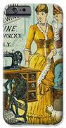 Sewing Machine Ad, C1880 IPhone Case by Granger