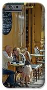 A Man A Woman A French Cafe IPhone 6s Case by Allen Sheffield