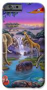 African Animals At The Water Hole IPhone 6s Case by Anne Wertheim