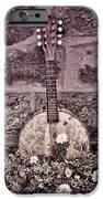Banjo Mandolin On Garden Wall IPhone Case by Bill Cannon