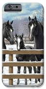 Black Quarter Horses In Snow IPhone 6s Case