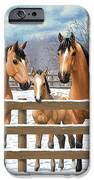 Buckskin Appaloosa Horses In Snow IPhone 6s Case by Crista Forest