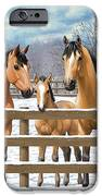 Buckskin Quarter Horses In Snow IPhone 6s Case by Crista Forest