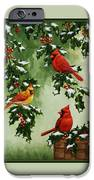 Cardinals And Holly - Version With Snow IPhone 6s Case by Crista Forest