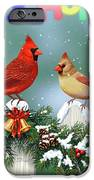 Christmas Birds And Garland IPhone 6s Case by Crista Forest