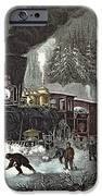 Currier And Ives IPhone Case by American Railroad Scene