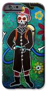Firefighter Day Of The Dead IPhone Case by Pristine Cartera Turkus