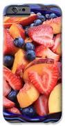 Fruit Salad In Blue Bowl IPhone Case by Carol Groenen