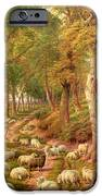 Landscape With Sheep IPhone Case by Charles Joseph