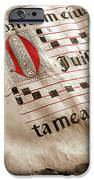 Medieval Choir Book IPhone Case by Carlos Caetano