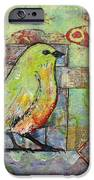 Mint Green Bird Art IPhone Case by Blenda Studio