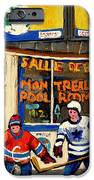 Montreal Poolroom Hockey Fans IPhone Case by Carole Spandau