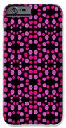 Pink Dots Pattern On Black IPhone 6s Case