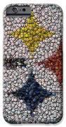 Pittsburgh Steelers  Bottle Cap Mosaic IPhone Case by Paul Van Scott