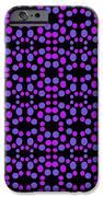 Purple Dots Pattern On Black IPhone 6s Case