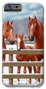 Red Sorrel Quarter Horses In Snow IPhone 6s Case by Crista Forest