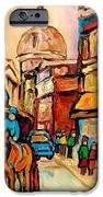 Rue St. Paul Old Montreal Streetscene IPhone Case by Carole Spandau