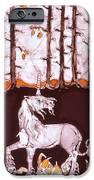 Unicorn Below Trees In Autumn IPhone Case by Carol  Law Conklin