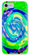 Bold And Colorful Phone Case Artwork Lovely Abstracts Carole Spandau Cbs Art Exclusives 134  IPhone Case by Carole Spandau