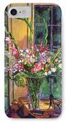 Gladiola Arrangement IPhone Case by David Lloyd Glover