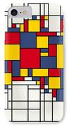 Mondrian Inspired Australia Map IPhone Case