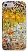 Rainy Autumn Beauty Original Palette Knife Painting IPhone Case