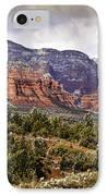 Sedona Arizona In Winter Coat IPhone Case