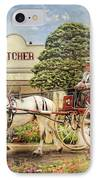 The Butchers Cart IPhone Case by Trudi Simmonds