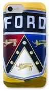 1950 Ford Custom Deluxe Station Wagon Emblem IPhone Case by Jill Reger