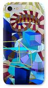 Abstract Art Stained Glass IPhone Case by Mountain Dreams