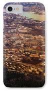 Aerial View Of Riga. Latvia. Rainbow Earth IPhone Case by Jenny Rainbow