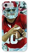 Alabama Quarter Back #10 IPhone Case by Michael Lee