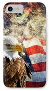 Bald Eagle And Fireworks IPhone Case by Michael Shake