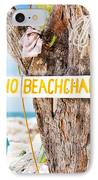 Beach At Rum Point IPhone Case by Jo Ann Snover