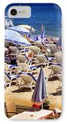 Beach In Cannes IPhone Case
