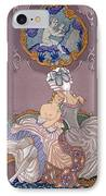 Bedroom Scene IPhone Case by Georges Barbier