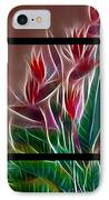 Bird Of Paradise Fractal IPhone Case by Peter Piatt