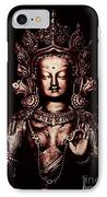 Buddhist Tara Deity IPhone Case by Tim Gainey