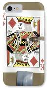 Bullet Piercing Playing Card IPhone Case by Gary S. Settles